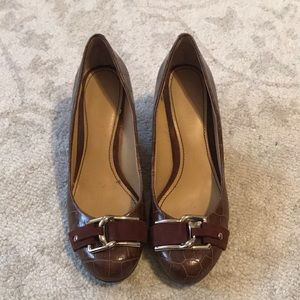 Brown Nine West wedges size 6